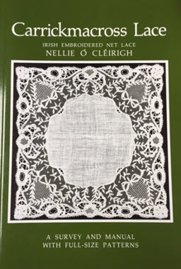 Carrickmacross Lace. Irish Embroidered Net Lace